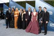 The cast of Schitt's Creek attends the 26th Annual Screen Actors Guild Awards at The Shrine Auditorium on January 19, 2020 in Los Angeles, California.