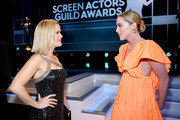 (L-R) Reese Witherspoon and Kathryn Newton attend the 26th Annual Screen Actors Guild Awards at The Shrine Auditorium on January 19, 2020 in Los Angeles, California.