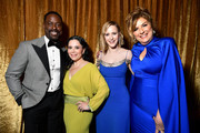 (L-R) Sterling K. Brown, Alex Borstein, Rachel Brosnahan, and Caroline Aaron attend the 26th Annual Screen ActorsGuild Awards at The Shrine Auditorium on January 19, 2020 in Los Angeles, California. 721313
