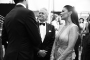 Image has been converted to black and white.) Michael Douglas and Catherine Zeta-Jones attend the 26th Annual Screen Actors Guild Awards at The Shrine Auditorium on January 19, 2020 in Los Angeles, California.