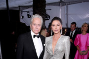 (L-R)  Michael Douglas and Catherine Zeta-Jones attend the 26th Annual Screen Actors Guild Awards at The Shrine Auditorium on January 19, 2020 in Los Angeles, California.