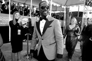 Image has been converted to black and white.) Sterling K. Brown attends the 26th Annual Screen Actors Guild Awards at The Shrine Auditorium on January 19, 2020 in Los Angeles, California.