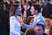 Millie Bobby Brown and Noah Schnapp attend the 26th Annual Screen ActorsGuild Awards at The Shrine Auditorium on January 19, 2020 in Los Angeles, California.