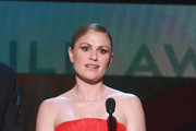Anna Paquin speaks onstage during the 26th Annual Screen Actors Guild Awards at The Shrine Auditorium on January 19, 2020 in Los Angeles, California.
