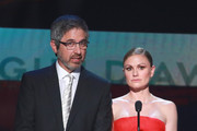 Ray Romano and Anna Paquin speak onstage during the 26th Annual Screen Actors Guild Awards at The Shrine Auditorium on January 19, 2020 in Los Angeles, California.