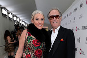 (L-R) Margaret DeVogelaere and Peter Fonda attend the 27th annual Elton John AIDS Foundation Academy Awards Viewing Party sponsored by IMDb and Neuro Drinks celebrating EJAF and the 91st Academy Awards on February 24, 2019 in West Hollywood, California.
