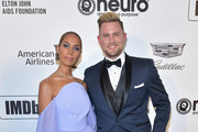 Leona Lewis and Dennis Jauch attend the 27th annual Elton John AIDS Foundation Academy Awards Viewing Party celebrating EJAF and the 91st Academy Awards on February 24, 2019 in West Hollywood, California.