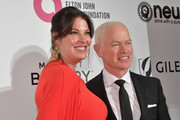 (L-R)  Ruve McDonough and Neal McDonough attend the 27th annual Elton John AIDS Foundation Academy Awards Viewing Party celebrating EJAF and the 91st Academy Awards on February 24, 2019 in West Hollywood, California.