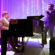 Elton John and Brandon Flowers Photos