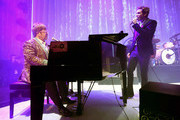 Elton John and Brandon Flowers Photos Photo