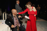 (L-R) Quincy Jones Lorna Luft attend the 27th annual Elton John AIDS Foundation Academy Awards Viewing Party sponsored by IMDb and Neuro Drinks celebrating EJAF and the 91st Academy Awards on February 24, 2019 in West Hollywood, California.