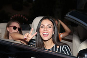 Victoria Justice attends the 27th Annual Race To Erase MS: Drive-In To Erase MS at Rose Bowl on September 04, 2020 in Pasadena, California.