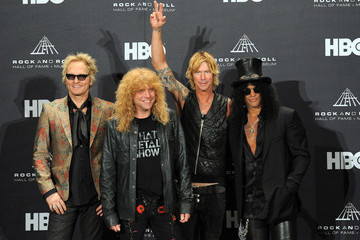Matt Sorum Steven Adler 27th Annual Rock And Roll Hall Of Fame Induction Ceremony - Press Room