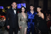 (L-R) John Demsey,  Dita Von Teese, Troye Sivan and Alexa Demie attend the 28th Annual Elton John AIDS Foundation Academy Awards Viewing Party sponsored by IMDb, Neuro Drinks and Walmart on February 09, 2020 in West Hollywood, California.