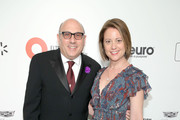 Willie Garson and Mary Lisio attend the 28th Annual Elton John AIDS Foundation Academy Awards Viewing Party sponsored by IMDb, Neuro Drinks and Walmart on February 09, 2020 in West Hollywood, California.