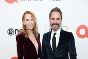 (L-R) Janet Holden and Eric McCormack attend the 28th Annual Elton John AIDS Foundation Academy Awards Viewing Party sponsored by IMDb, Neuro Drinks and Walmart on February 09, 2020 in West Hollywood, California.