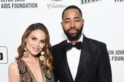 Nina Senicar and  Jay Ellis attend the 28th Annual Elton John AIDS Foundation Academy Awards Viewing Party sponsored by IMDb, Neuro Drinks and Walmart on February 09, 2020 in West Hollywood, California.