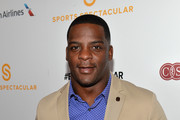 Former professional football player Clinton Portis arrives on the red carpet at the 2014 Sports Spectacular Gala at the Hyatt Regency Century Plaza on May 18, 2014 in Century City, California.