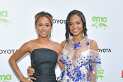 Karrueche Tran and Christina Milian attend the 29th Annual Environmental Media Awardsat Montage Beverly Hills on May 30, 2019 in Beverly Hills, California.