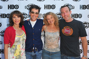 """Actress Andrea Martin, writer/actor Dan Bucatinski, director Julie Davis and actor Richard Ruccolo arrive to the 29th Annual Los Angeles Gay & Lesbian Film Festival's premiere of """"The Green"""" at the Directors Guild Of America on July 9, 2011 in Los Angeles, California."""