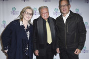 """Meryl Streep, Chairman of the Palm Springs International Film Festival Harold Matzner and Tom Hanks attend the 29th Annual Palm Springs International Film Festival Opening Night Screening of """"The Post"""" at Palm Springs High School on January 4, 2018 in Palm Springs, California."""