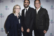 """Meryl Streep, artistic director of the Palm Springs International Film Festival Michael Lerman and Tom Hanks attend the 29th Annual Palm Springs International Film Festival Opening Night Screening of """"The Post"""" at Palm Springs High School on January 4, 2018 in Palm Springs, California."""