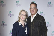 """Meryl Streep and Tom Hanks attend the 29th Annual Palm Springs International Film Festival Opening Night Screening of """"The Post"""" at Palm Springs High School on January 4, 2018 in Palm Springs, California."""