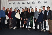 Producers Gary Luchesi, Lori McCreary, Barry Mendel, Mark Gordon, Amy Pascal, Evelyn O'Neill, Deborah Snyder, Emma Thomas, Margot Robbie, Sean McKittrick, J. Miles Dale, Graham Broadbent and Peter Spears attend the 29th Annual Producers Guild Awards Nominees Breakfast at the Saban Theater on January 20, 2018 in Los Angeles, California.