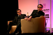 Director David O. Russell and SBIFF director Roger Durling speak onstage at the presentation of the Outstanding Director Award at the Arlington Theatre at the 29th Santa Barbara International Film Festival on January 31, 2014 in Santa Barbara, California.