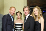 (L-R) Actors Jesse Tyler Ferguson, Sarah Hyland, William H. Macy and Georgia Macy attends the 2nd Annual unite4:humanity presented by ALCATEL ONETOUCH at the Beverly Hilton Hotel on February 19, 2015 in Los Angeles, California.