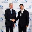Bill Clinton and Stephan Roh