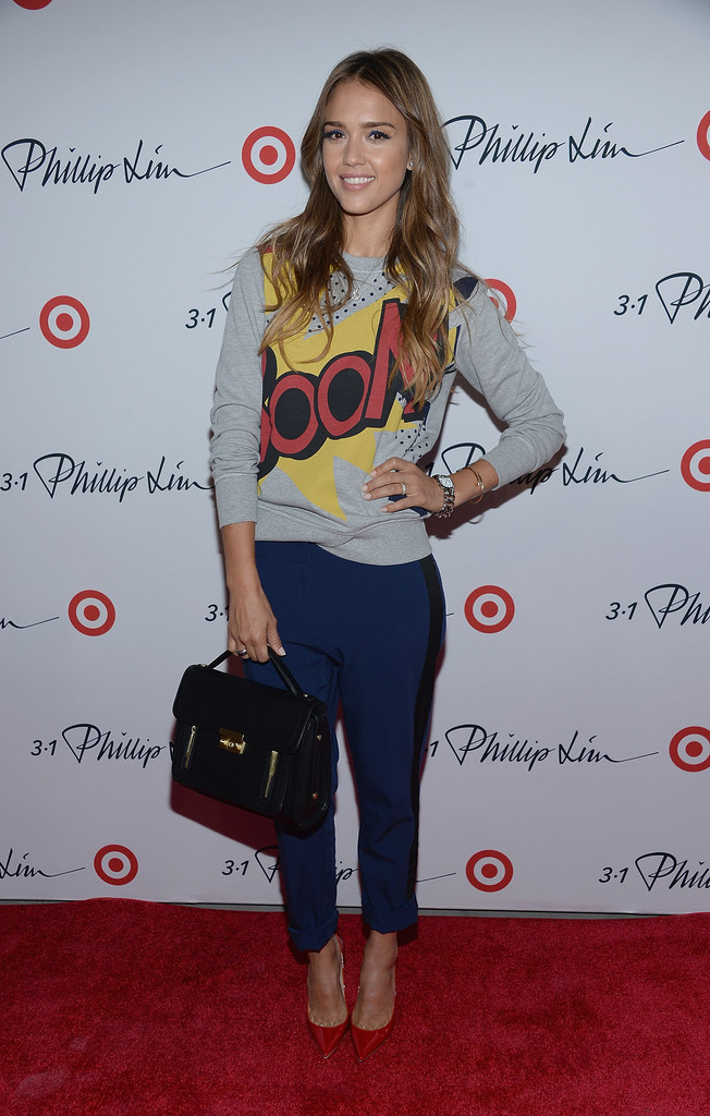 Jessica Alba attends the 3.1 Phillip Lim for Target Launch Event at Spring Studio on September 5, 2013 in New York City.