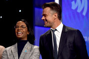 (L-R) Clark Moore and Josh Duhamel accept the Outstanding Film - Wide Release award for 'Love, Simon,' onstage during the 30th Annual GLAAD Media Awards Los Angeles at The Beverly Hilton Hotel on March 28, 2019 in Beverly Hills, California.