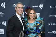 Andy Cohen and Sarah Jessica Parker pose backstage during the 30th Annual GLAAD Media Awards New York at New York Hilton Midtown on May 4, 2019 in New York City.