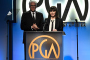 Ted Danson (L) and Mary Steenburgen speak onstage during the 30th annual Producers Guild Awards at The Beverly Hilton Hotel on January 19, 2019 in Beverly Hills, California.
