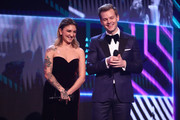 Julia Michaels and Joel Creasey present on stage during the 31st Annual ARIA Awards 2017 at The Star on November 28, 2017 in Sydney, Australia.