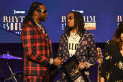"""2 Chainz and Quavo of Migos accept the award for """"Good Drank"""" onstage at the 31st Annual ASCAP Rhythm & Soul Music Awards at the Beverly Wilshire Four Seasons Hotel on June 21, 2018 in Beverly Hills, California."""