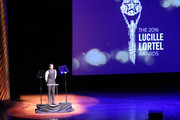 Host Zachary Levi speaks onstage during the 31st Annual Lucille Lortel Awards at NYU Skirball Center on May 1, 2016 in New York City.