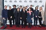 David Heyman, Emma Tillinger Koskov, Bong Joon Ho, Amy Pascal, Noah Baumbach, Lucy Fisher, Jane Rosenthal, Pippa Harris, Carthew Neal, Ram Bergman and Jenno Topping attend the 31st Annual Producers Guild Awards Nominees Breakfast at The Skirball Cultural Center on January 18, 2020 in Los Angeles, California.