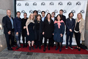 Vance Van Petten, David Heyman, Emma Tillinger Koskov, Susan Sprung, Bong Joon Ho, Amy Pascal, Noah Baumbach, Lucy Fisher, Jane Rosenthal, Pippa Harris, Carthew Neal, Ram Bergman and Jenno Topping attend the 31st Annual Producers Guild Awards Nominees Breakfast at The Skirball Cultural Center on January 18, 2020 in Los Angeles, California.