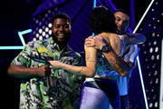 Khalid and Halsey present Guy Sebastian with the ARIA Award Song of The Year during the 33rd Annual ARIA Awards 2019 at The Star on November 27, 2019 in Sydney, Australia.