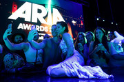 Halsey poses with fans during the 33rd Annual ARIA Awards 2019 at The Star on November 27, 2019 in Sydney, Australia.
