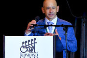 Mike Smith speaks during the 33rd Annual Great Sports Legends Dinner, which raised millions of dollars for the Buoniconti Fund to Cure Paralysis at The New York Hilton Midtown on September 24, 2018 in New York City.