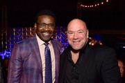 Michael Irvin (L) and Dana White attend the 34th Annual Cedars-Sinai Sports Spectacular at The Compound on July 15, 2019 in Inglewood, California.
