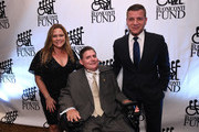 (L-R) Kelly Murro, Marc Buoniconti, and Tom Murro attend the Legends Reception during the 34th Annual Great Sports Legends Dinner To Benefit The Buoniconti Fund To Cure Paralysis at The Hilton Midtown on October 07, 2019 in New York City.