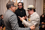 David O. Russell, SBIFF Director Roger Durling and Sergio Mendes attend a private meet and greet for Film Studies students with David O. Russell during the 35th Santa Barbara International Film Festival at the Lobero Theatre on January 18, 2020 in Santa Barbara, California.
