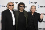 (L-R) Joe Walsh, Jeff Lynne and Benmont Tench attend the 36th annual ASCAP Pop Music Awards at The Beverly Hilton Hotel on May 16, 2019 in Beverly Hills, California.