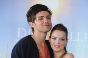 "Actors Roxane Mesquida (R) and Thomas Dekker (L) pose at photocall for the movie ""Kaboom'' during the 36th American Film Festival on September 5, 2010 in Deauville, France."