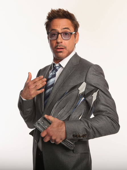 Actor Robert Downey Jr. poses for a portrait during the 39th Annual People's Choice Awards at Nokia Theatre L.A. Live on January 9, 2013 in Los Angeles, California.