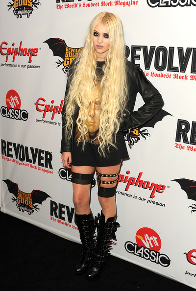 Musician/actress Taylor Momsen arrives at the 3rd Annual Revolver Golden God Awards at the Club Nokia on April 20, 2011 in Los Angeles, California.